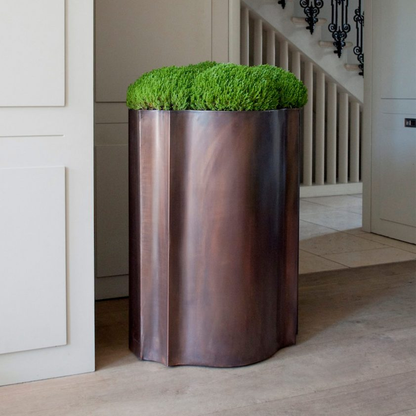 Odalisk 'Satine' Planter in Bronze Finish on Copper