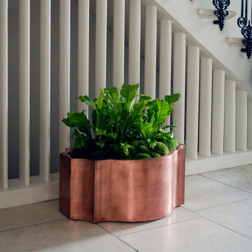 Odalisk 'Nell' Planter, Copper, Natural